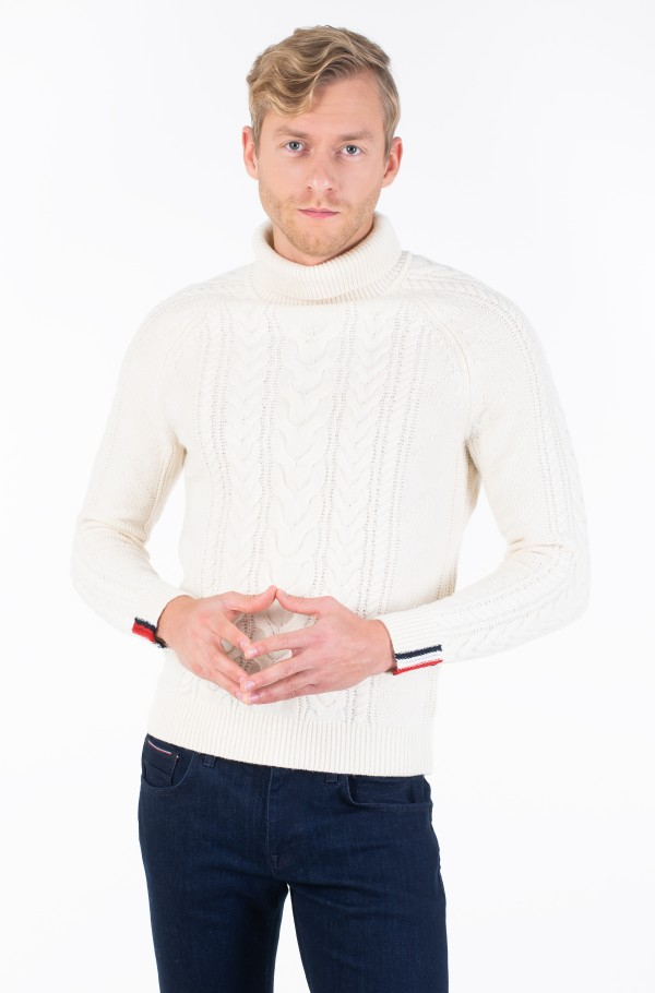 CABLE ROLL NECK-hover