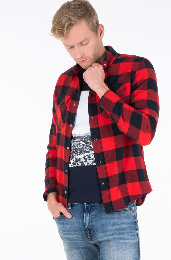 FLANNEL WESTERN  CHECK REG SHIRT