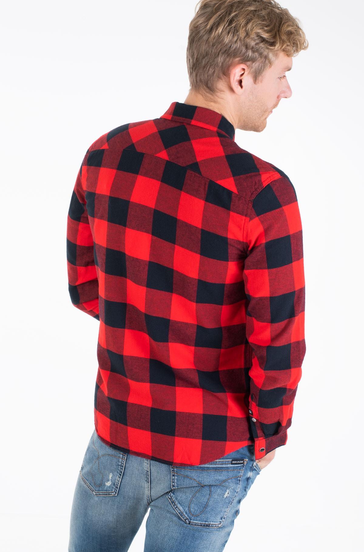 Shirt FLANNEL WESTERN CHECK REG SHIRT-full-3
