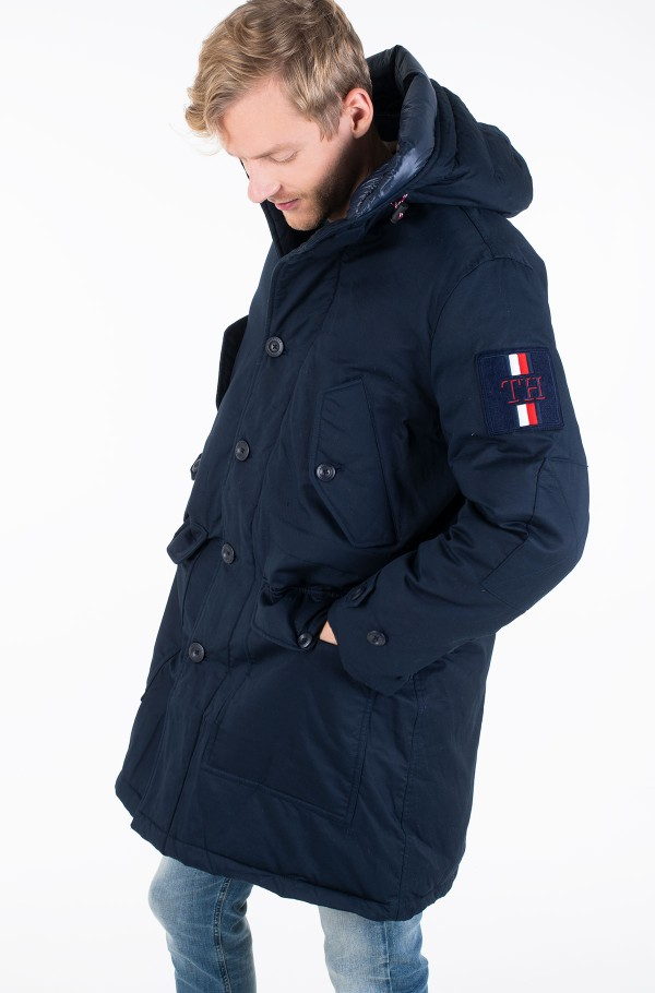 TH MONOGRAM COTTON HOODED PARKA-hover