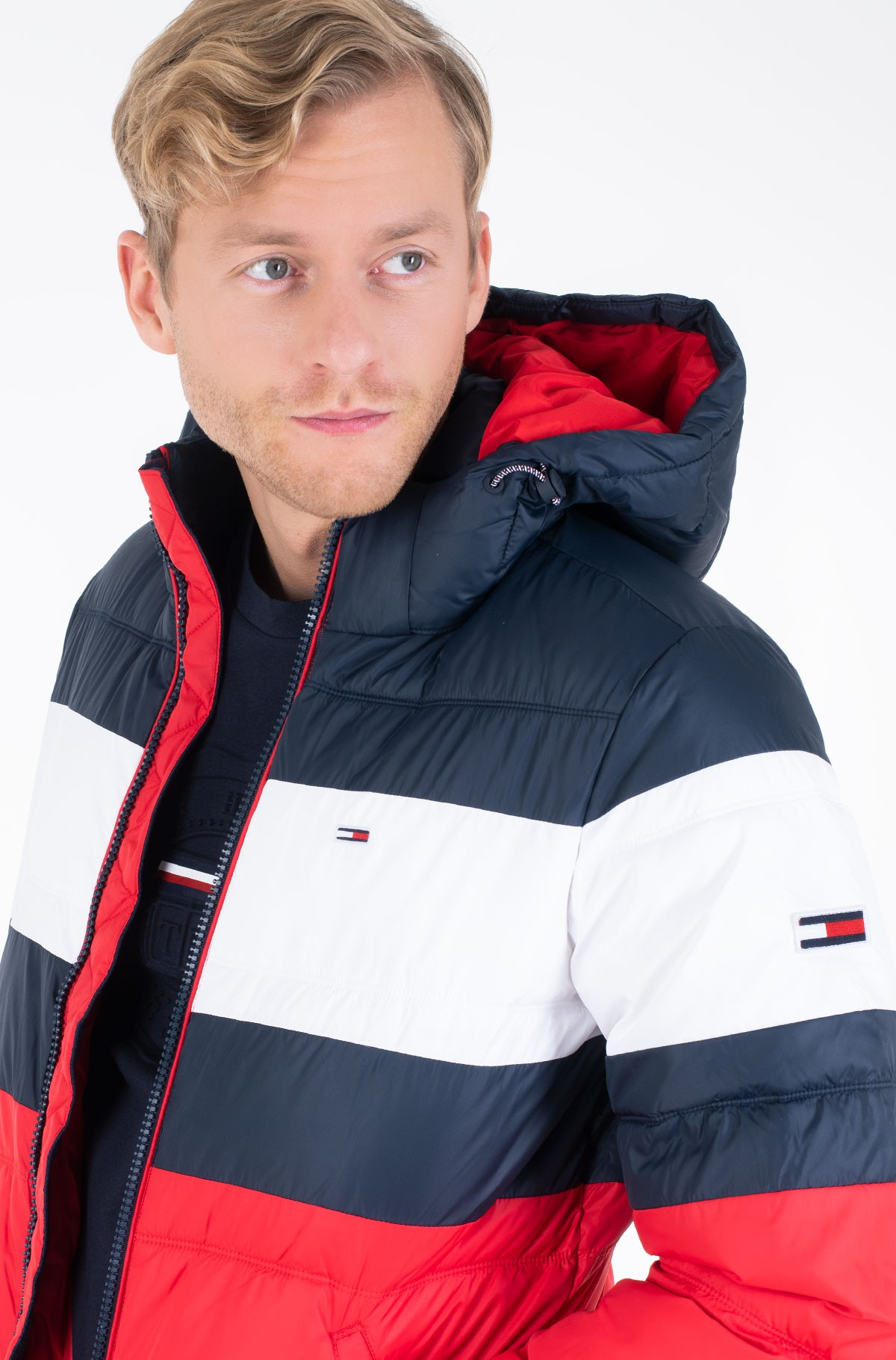 Striukė TJM RUGBY STRIPE PUFFER JACKET-full-1