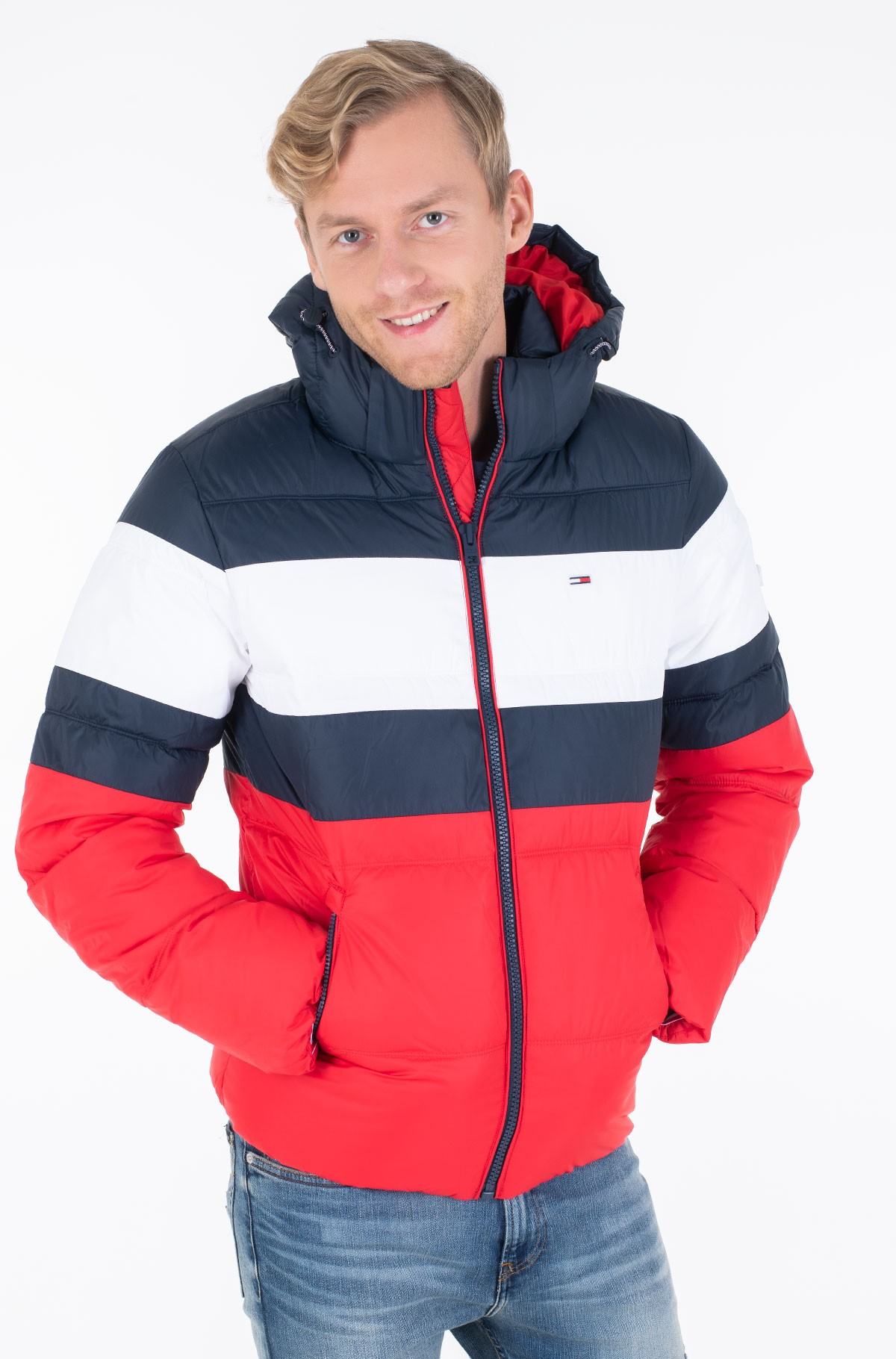 Striukė TJM RUGBY STRIPE PUFFER JACKET-full-3