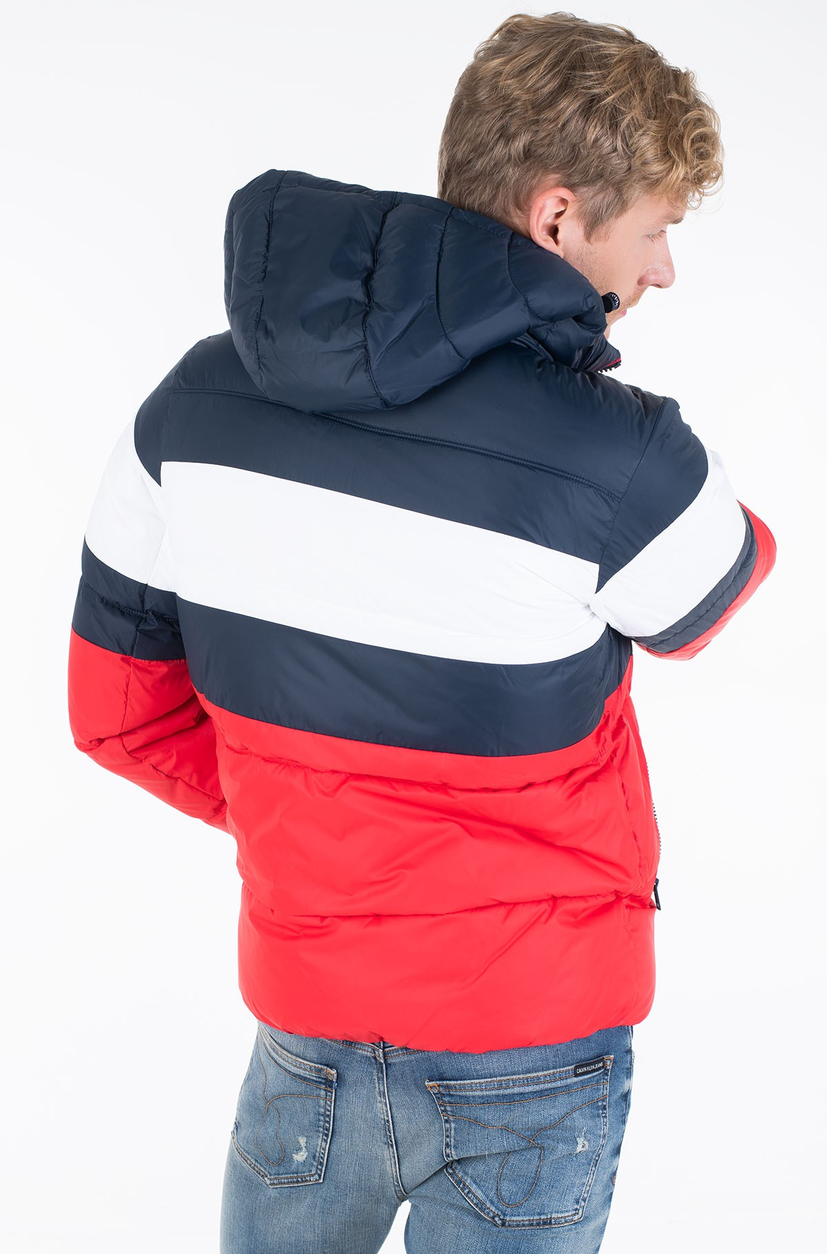 Striukė TJM RUGBY STRIPE PUFFER JACKET-full-4