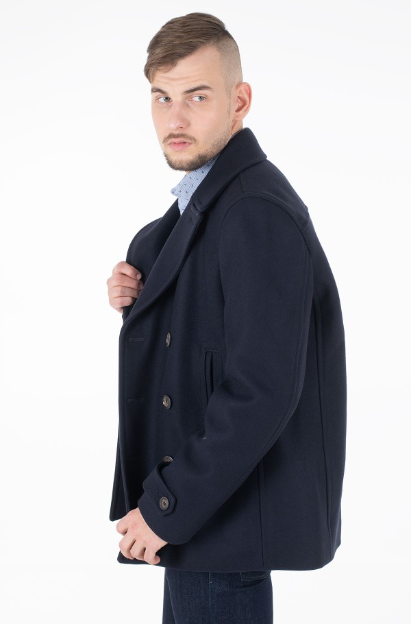 PADDED PEACOAT-hover
