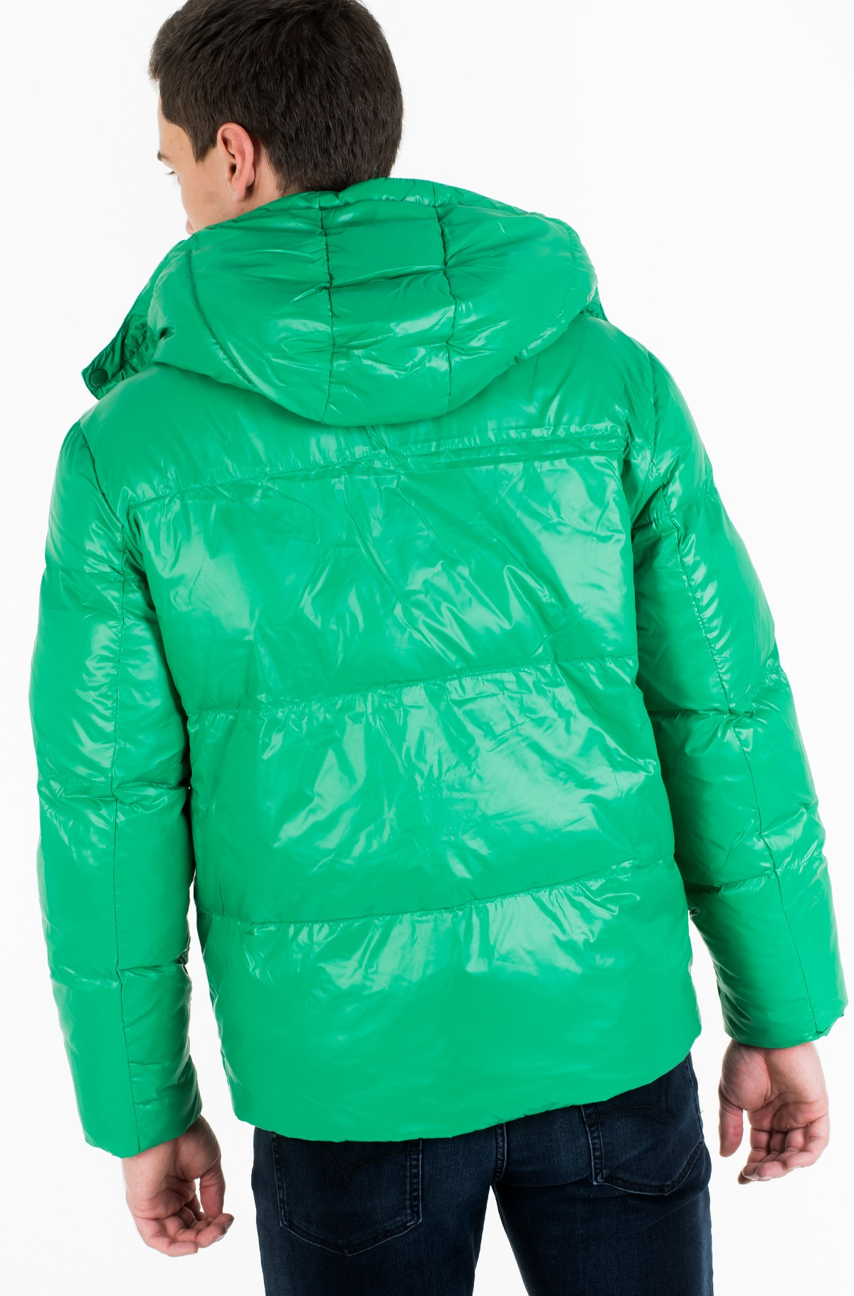 Striukė SHINY HOODED BOMBER-full-3