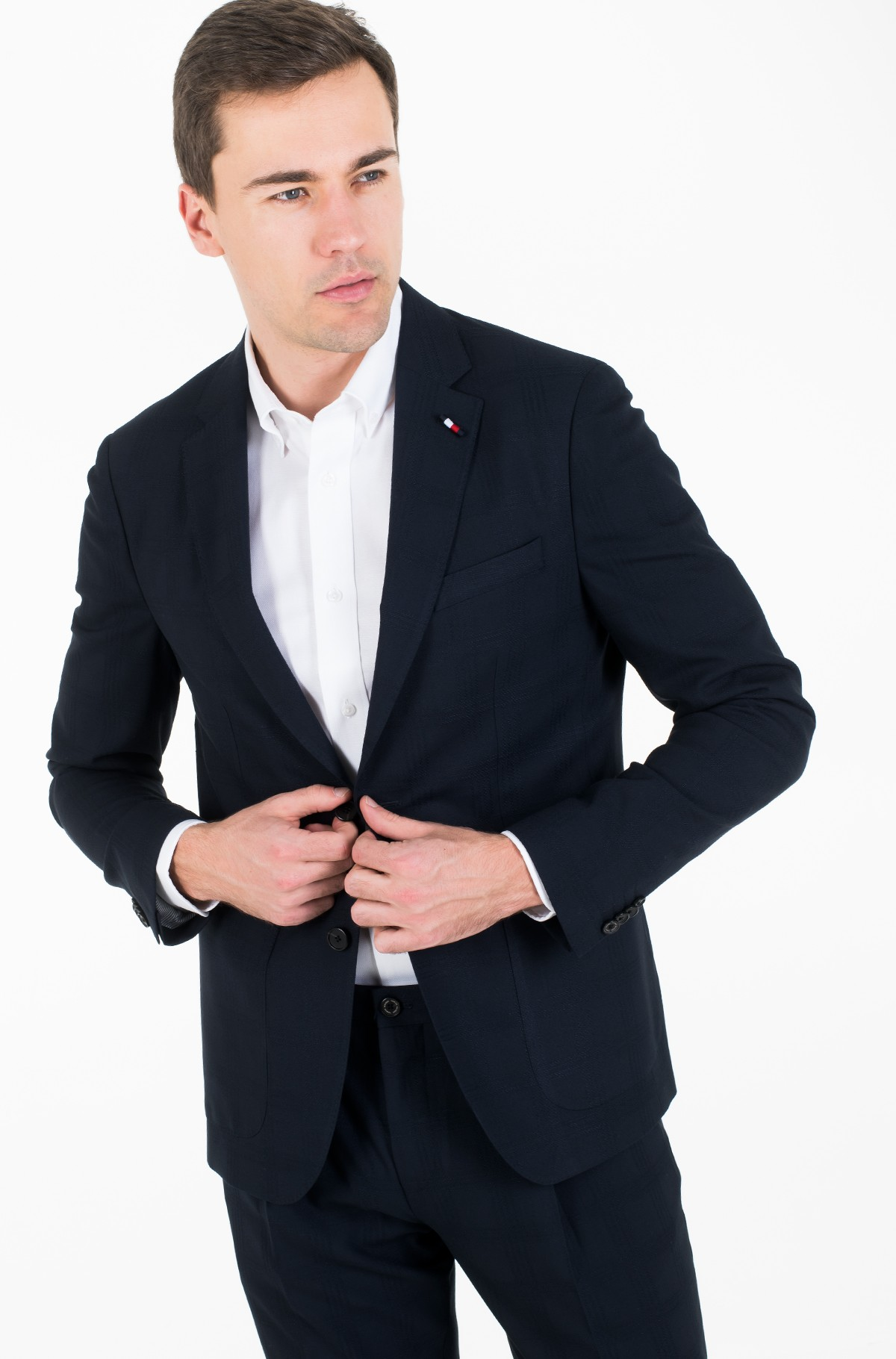 Pintsak SLIM FIT CHECK FLEX BLAZER-full-1