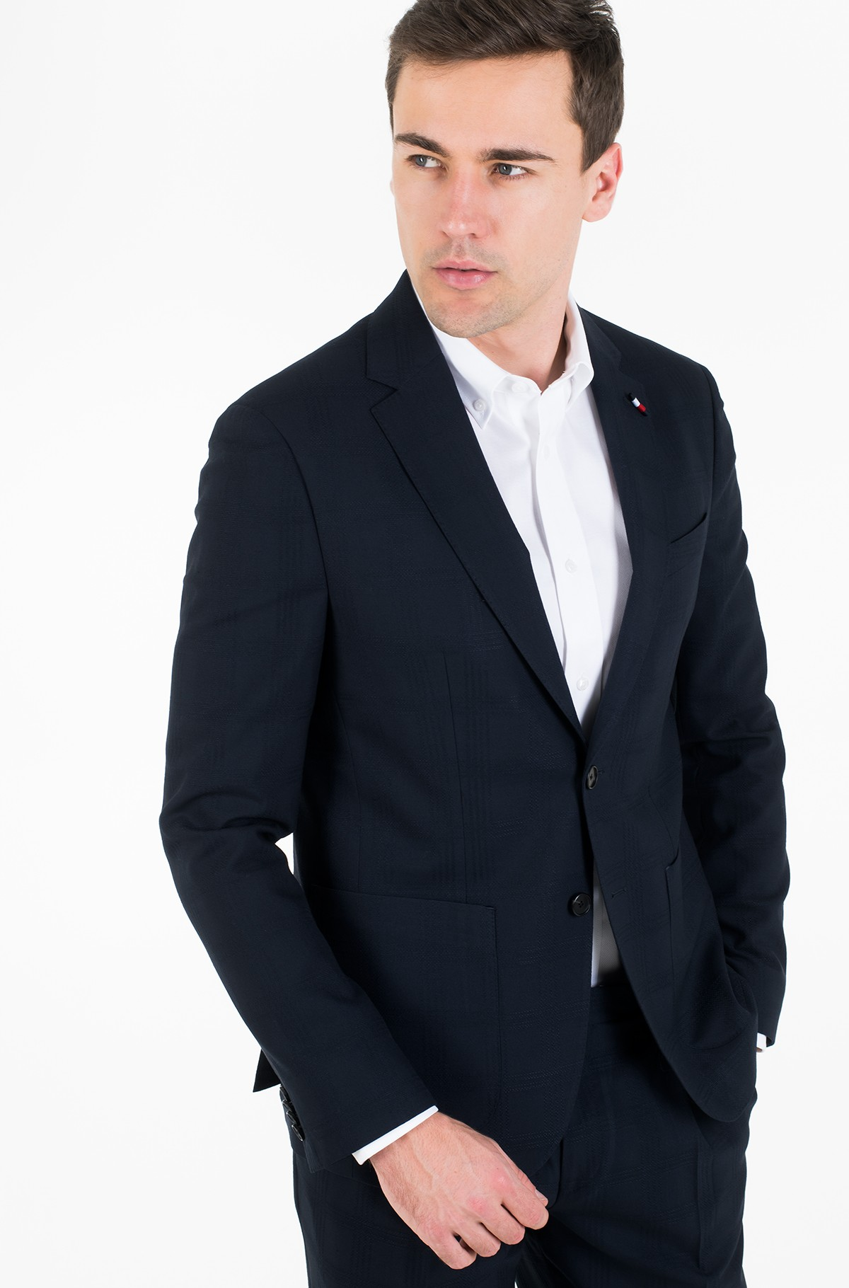 Žakete SLIM FIT CHECK FLEX BLAZER-full-2