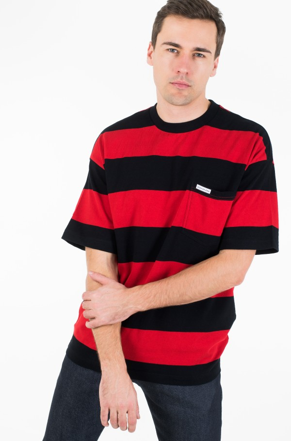 STRIPE POCKET RELAXED FIT TEE