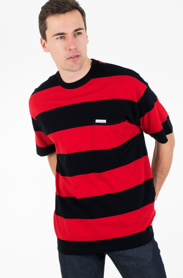 STRIPE POCKET RELAXED FIT TEE-hover