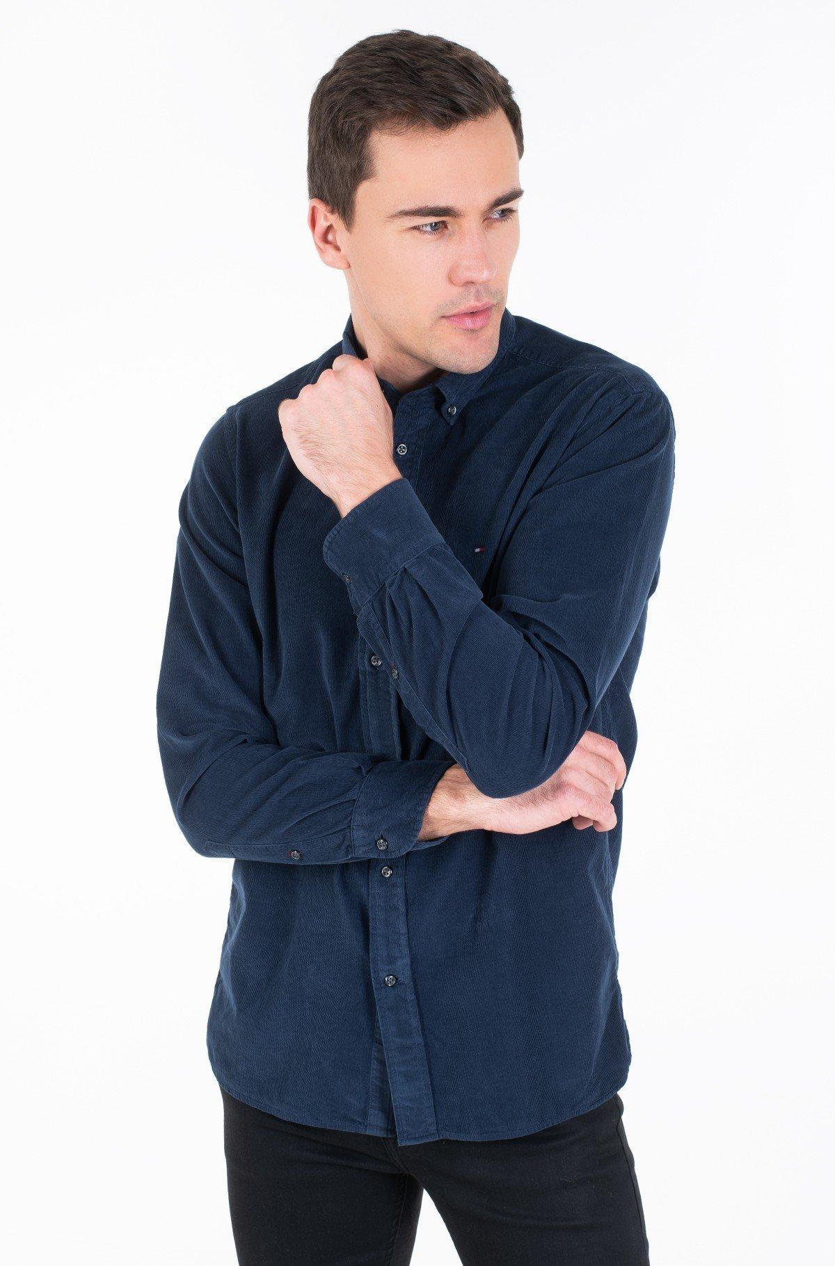 Velvetiniai marškiniai GARMENT DYED CORDUROY SHIRT-full-1
