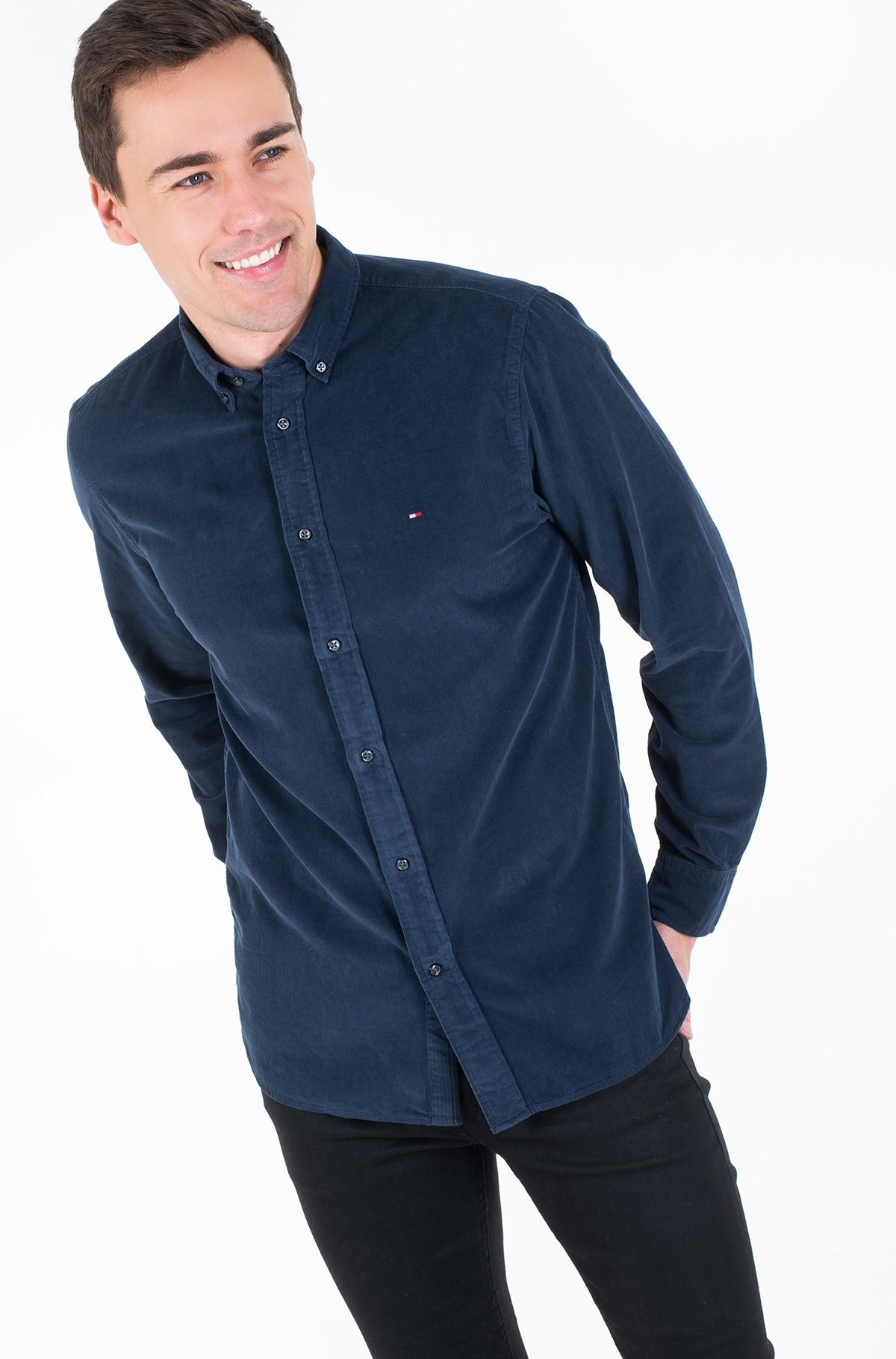 Velvetiniai marškiniai GARMENT DYED CORDUROY SHIRT-full-2