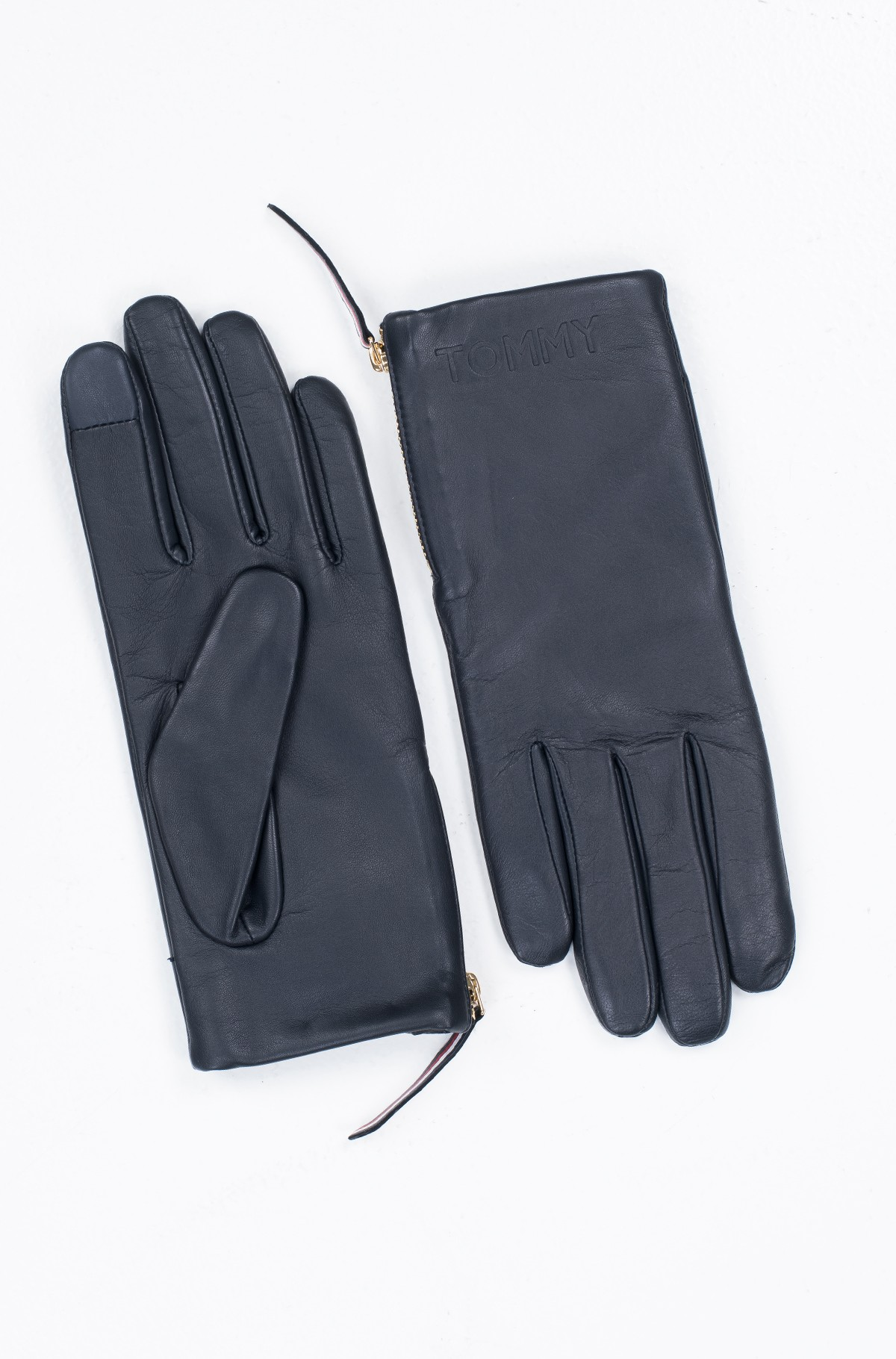 Kindad CORPORATE DETAIL LEATHER GLOVES-full-1