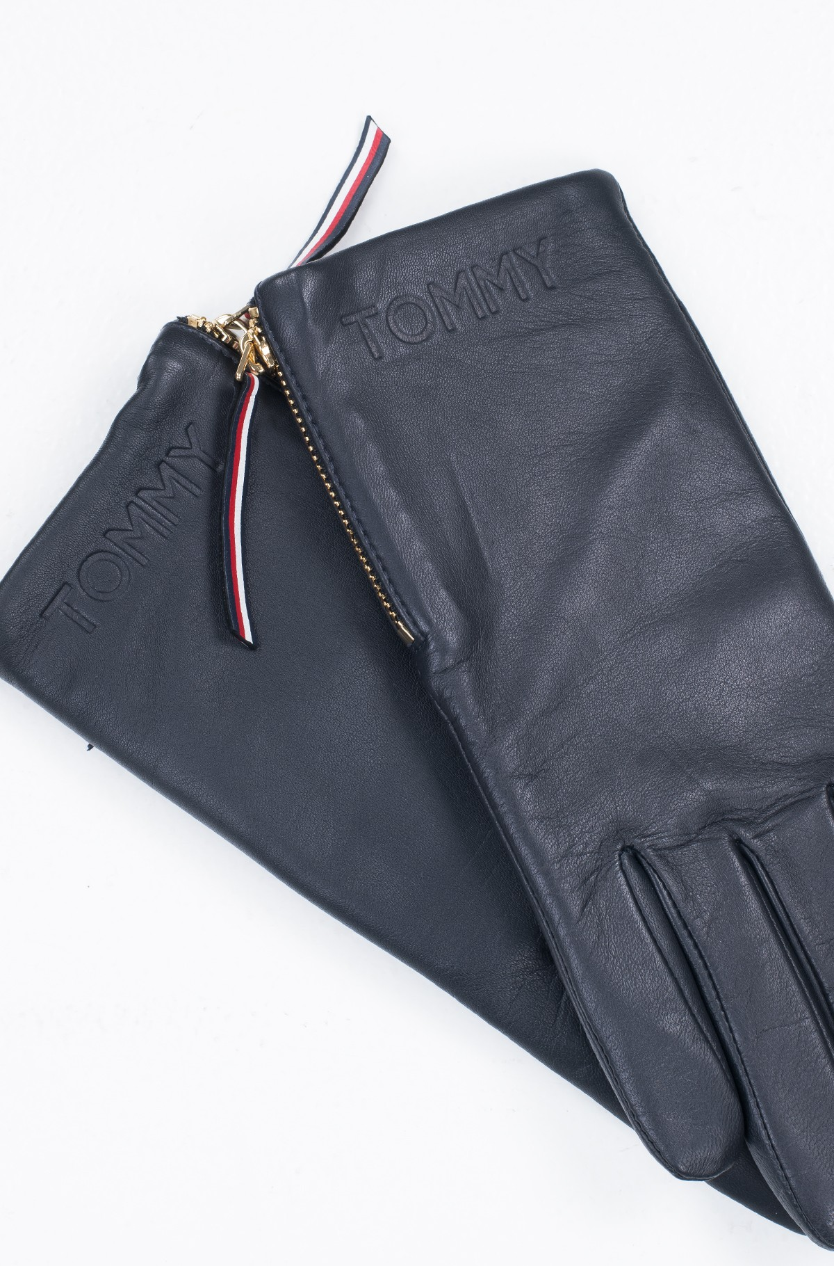 Kindad CORPORATE DETAIL LEATHER GLOVES-full-2