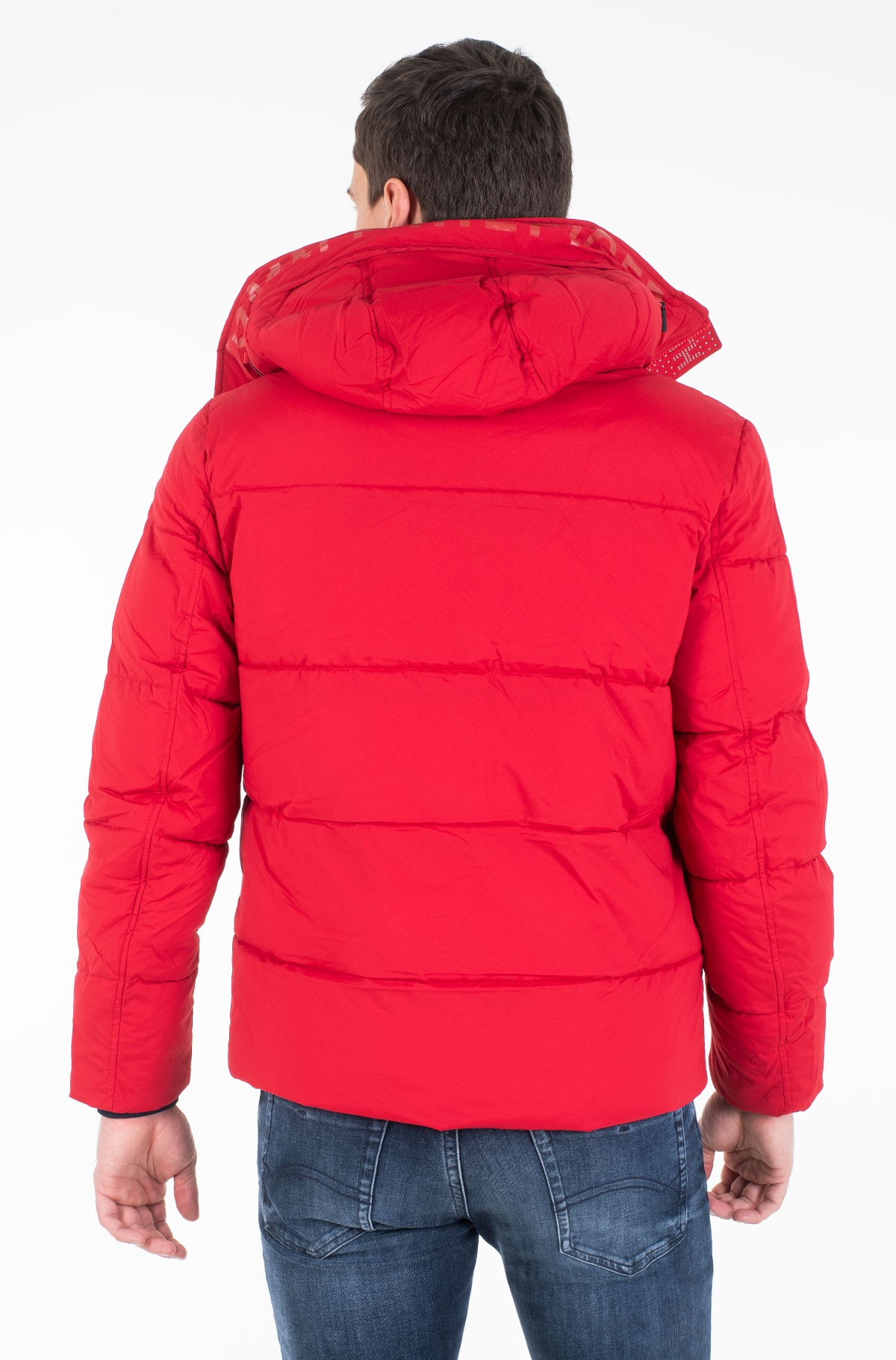 Jope STRETCH NYLON HOODED BOMBER-full-2