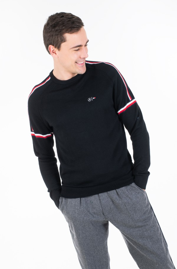 2 MB TECH STRIPE SWEATER