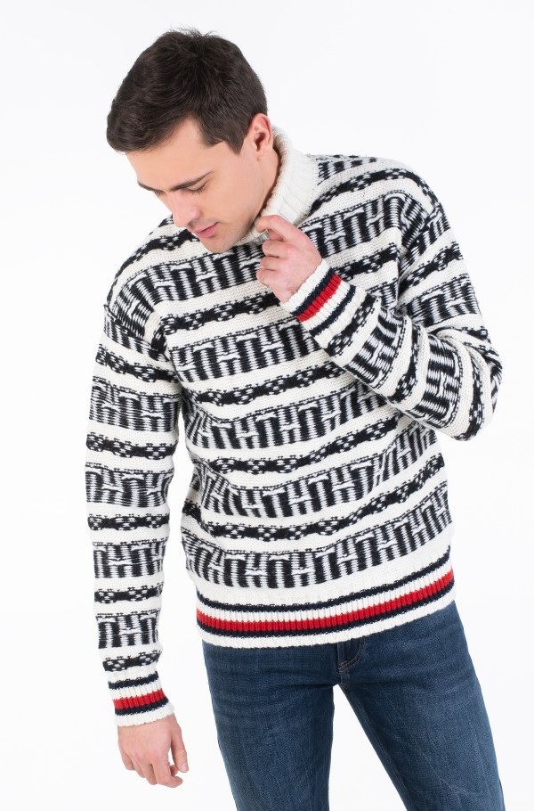 OVERSIZED FAIRISLE ROLL NECK