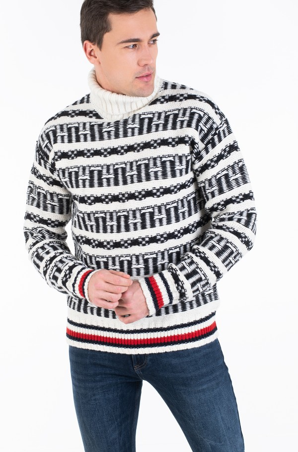 OVERSIZED FAIRISLE ROLL NECK-hover