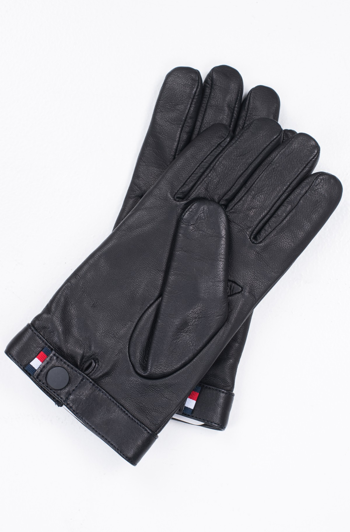 Nahkkindad LOGO EMBOSSED LEATHER GLOVES-full-3
