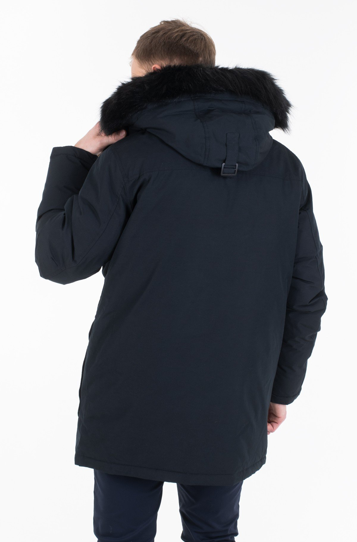 Parka FUR TRIMMED HOODED DOWN PARKA J30J313108-full-3