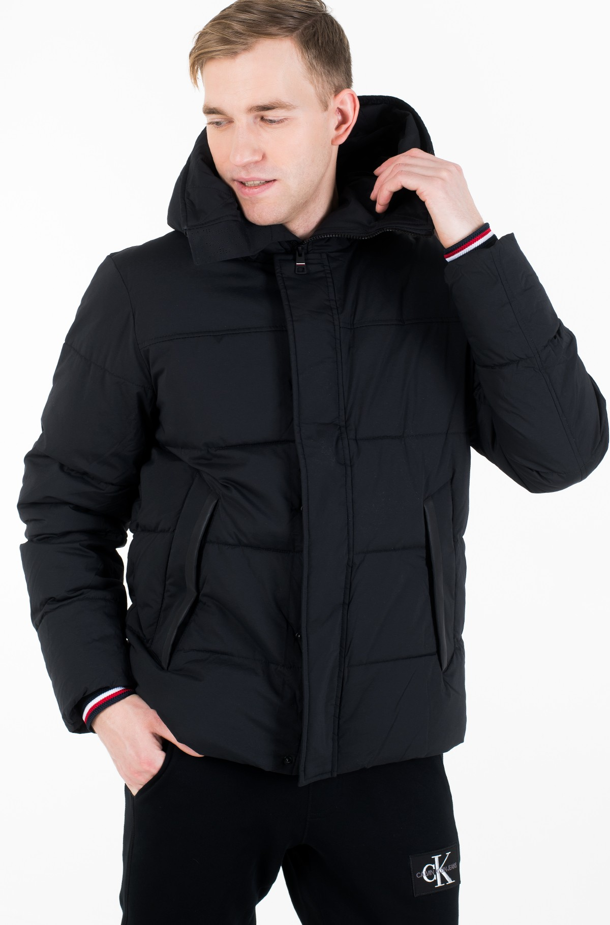 Striukė STRETCH NYLON HOODED BOMBER-full-2
