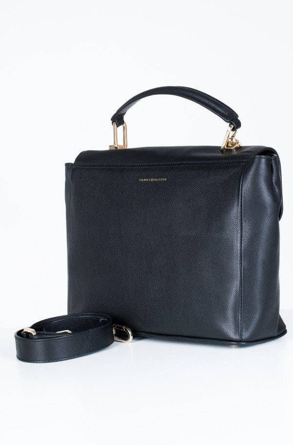 ELEVATED LEATHER SATCHEL-hover
