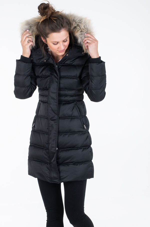 MW DOWN LONG NYLON  PUFFER-hover