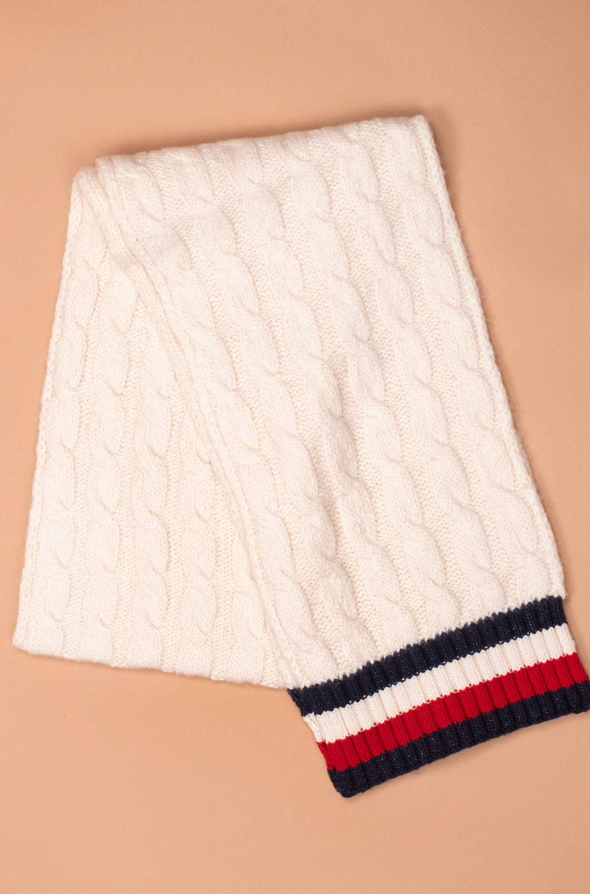 Sall CABLE KNIT SCARF-full-3