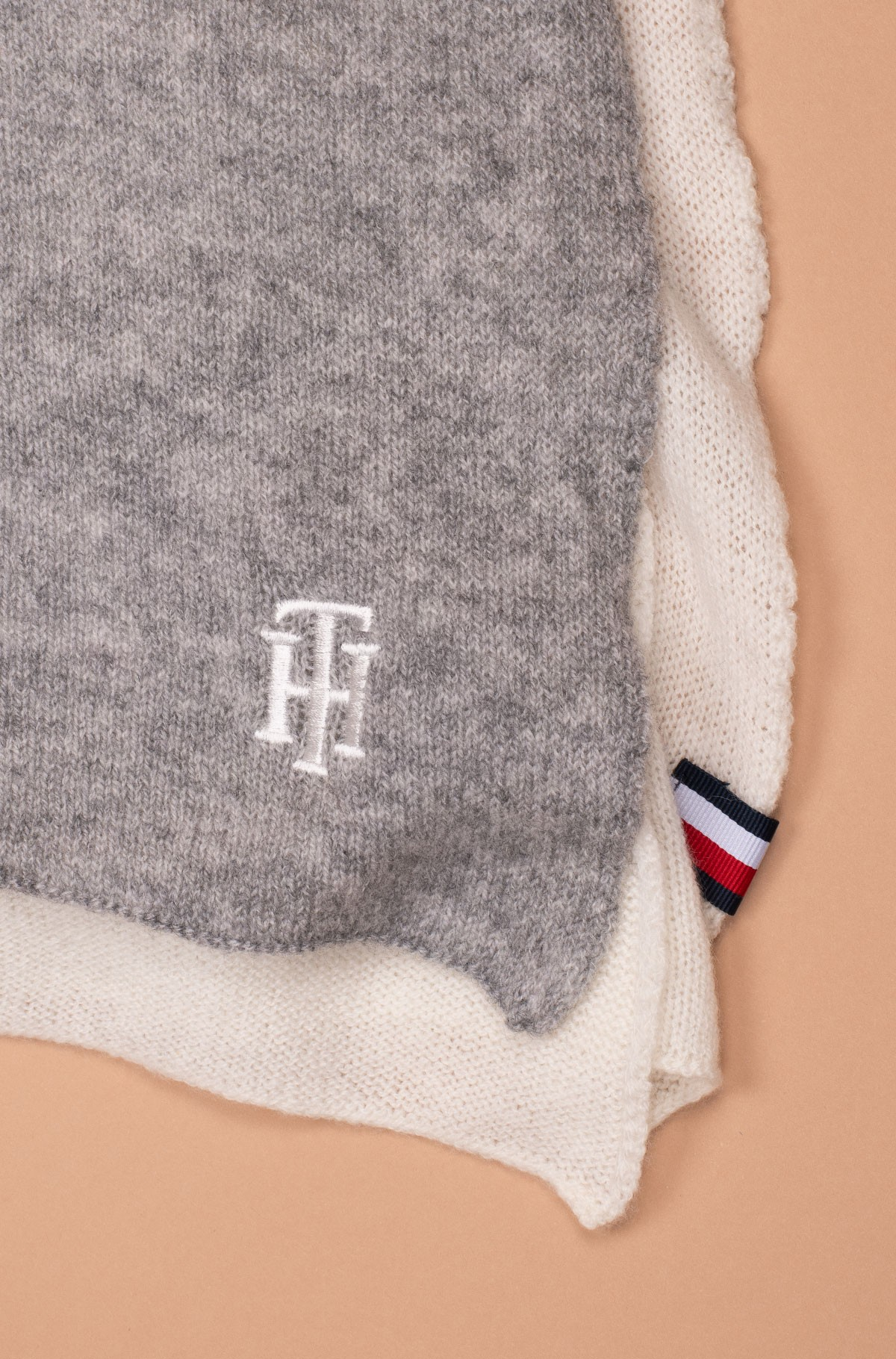 Sall CASHMERE MIX KNIT SCARF-full-3