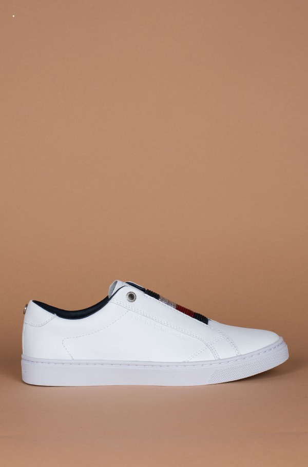 CRYSTAL LEATHER SLIP ON SNEAKER