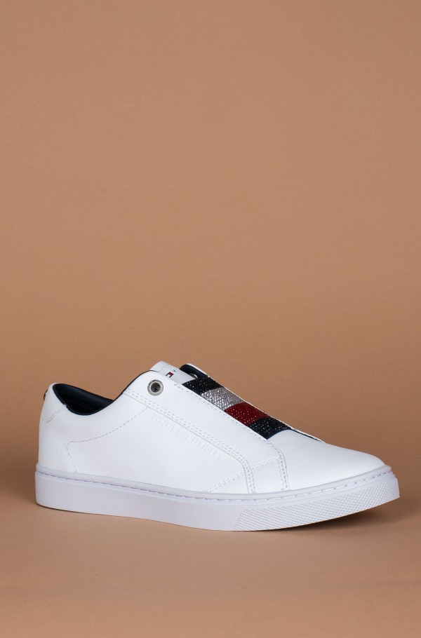 CRYSTAL LEATHER SLIP ON SNEAKER-hover