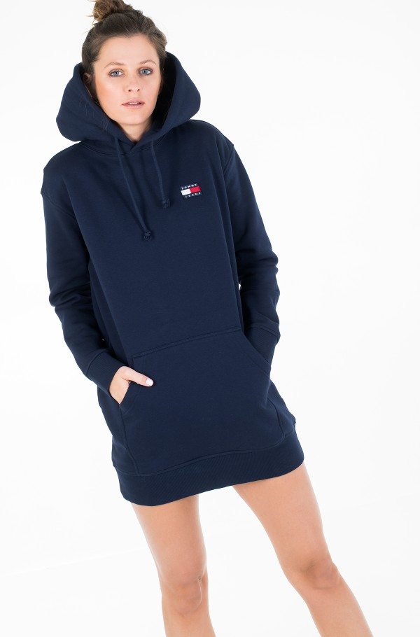 TJW TOMMY BADGE HOODIE DRESS