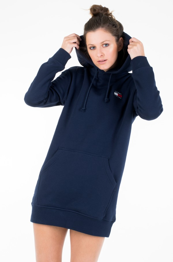 TJW TOMMY BADGE HOODIE DRESS-hover
