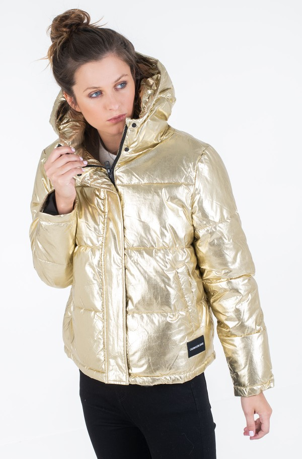 MW GOLD PUFFER JACKET-hover