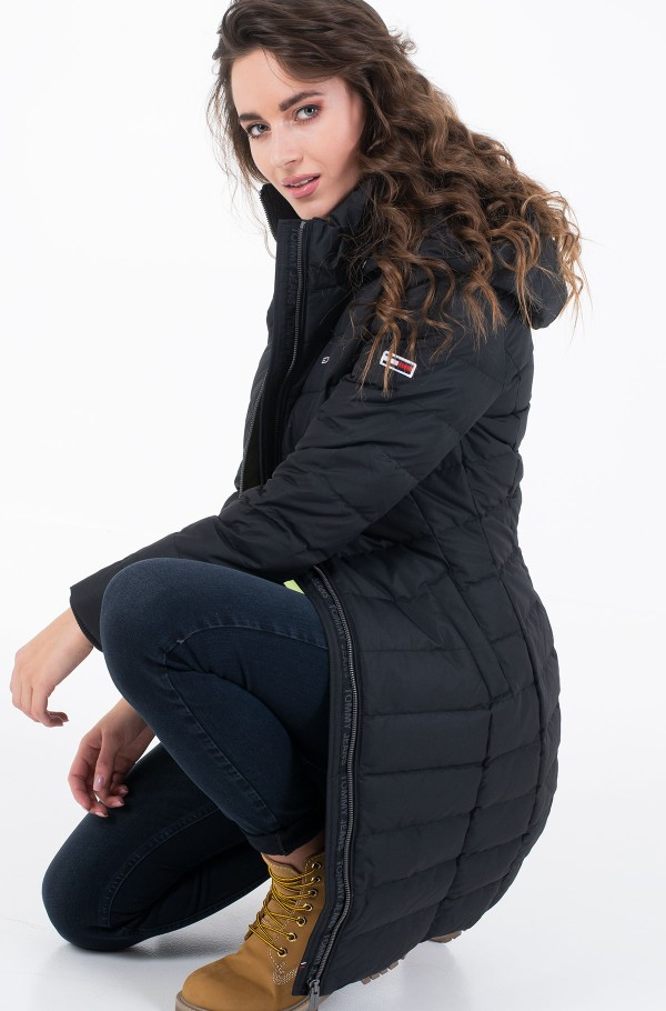 TJW QUILTED FITTED DOWN COAT