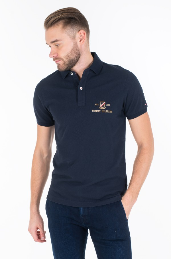 ICON GOLD EMBROIDERY SLIM POLO