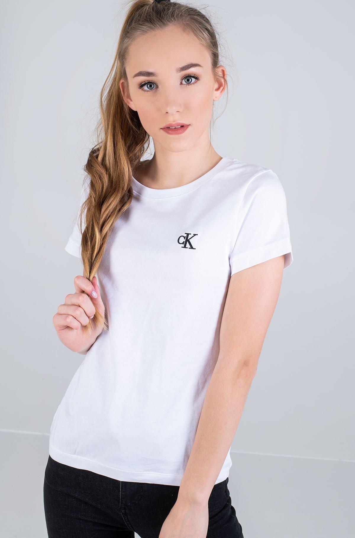 Marškinėliai CK EMBROIDERY SLIM TEE-full-1
