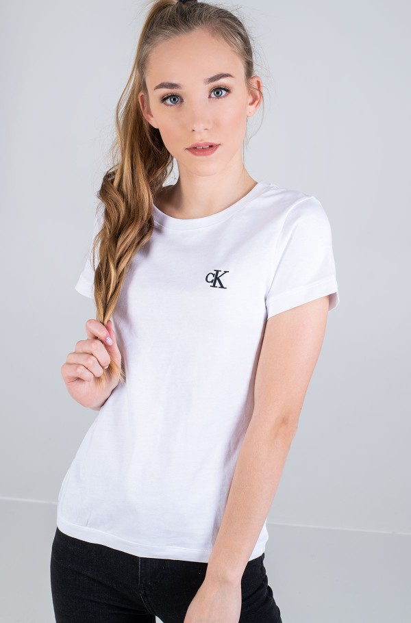 CK EMBROIDERY SLIM TEE