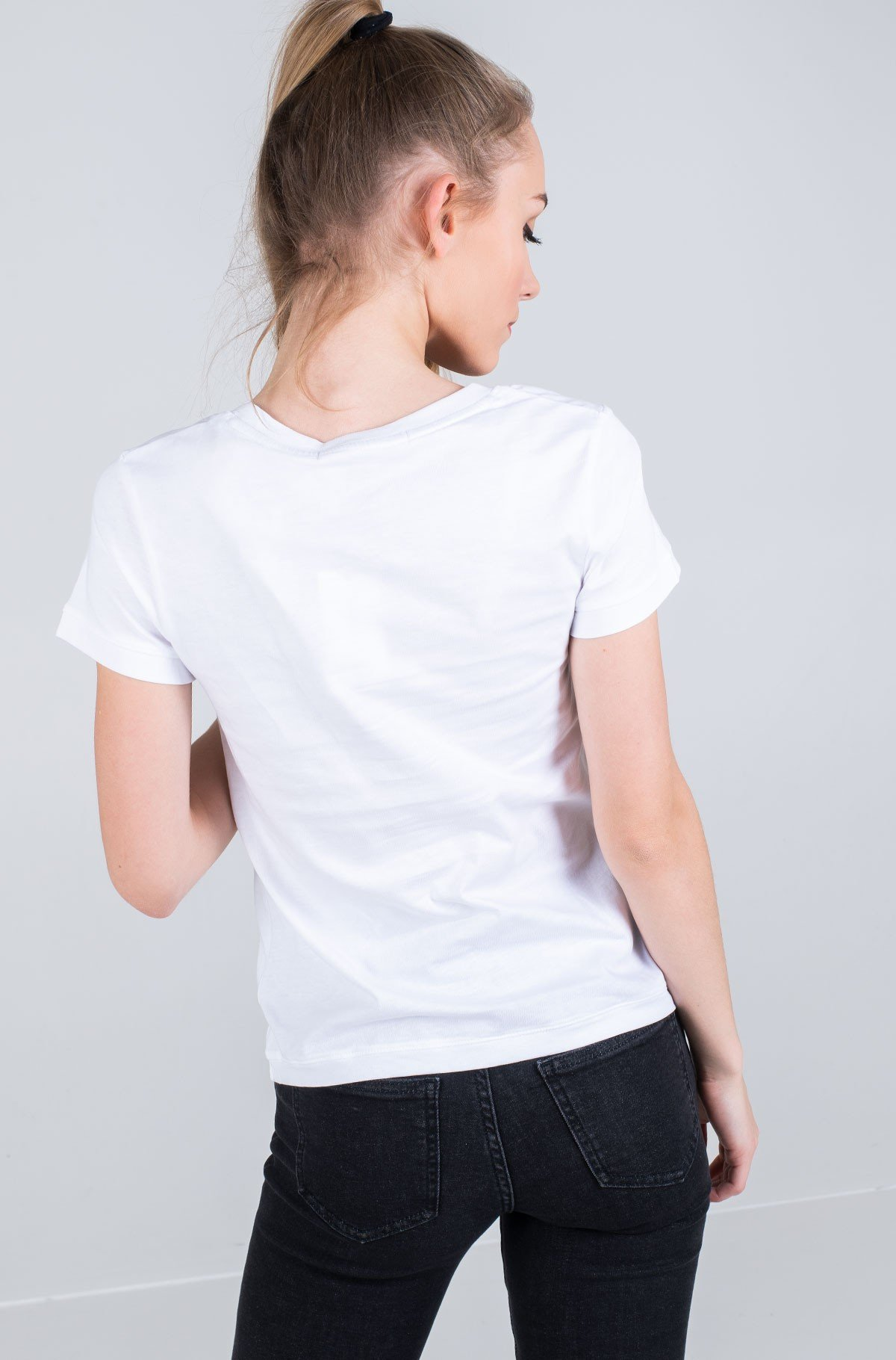 T-shirt CK EMBROIDERY SLIM TEE-full-2