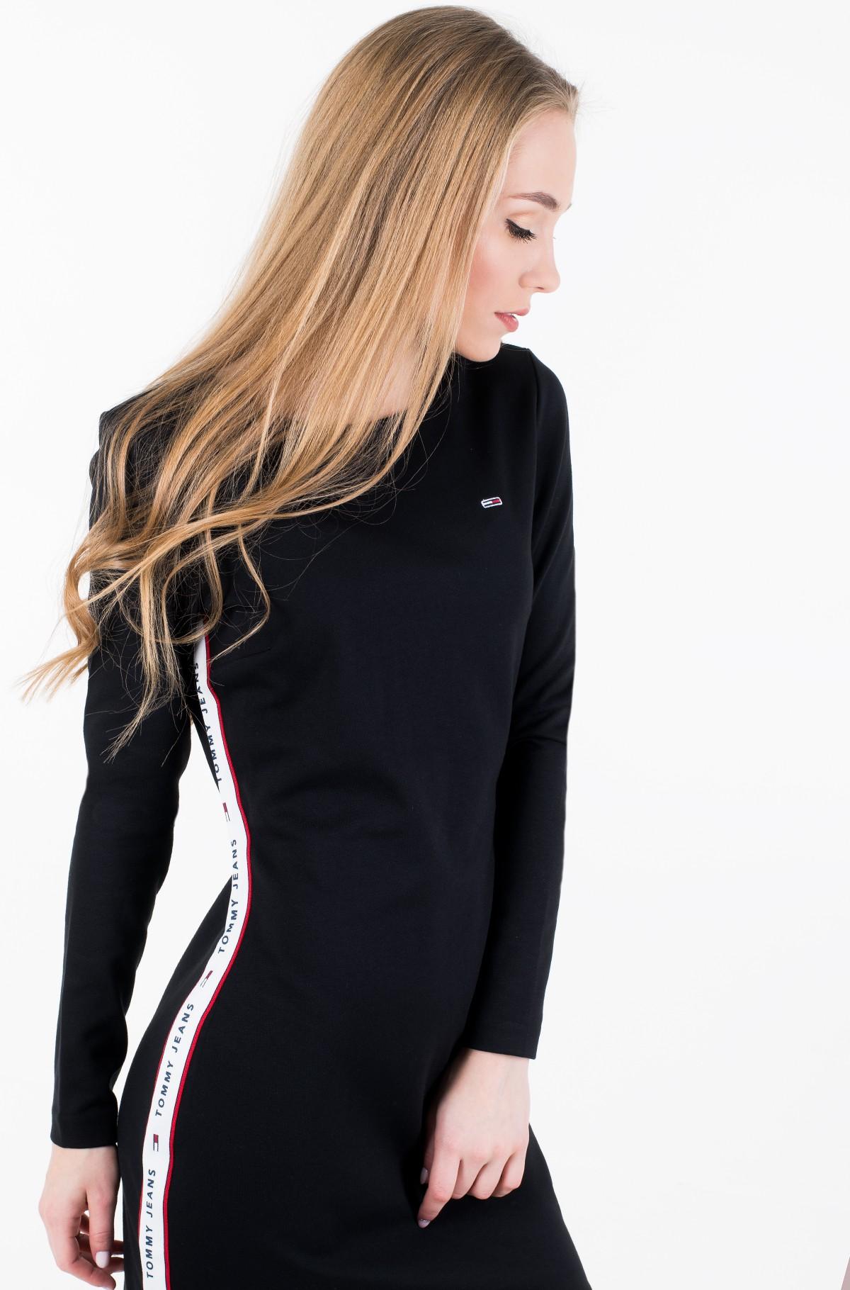 Suknelė VELVET MOCK NECK DRESS-full-1