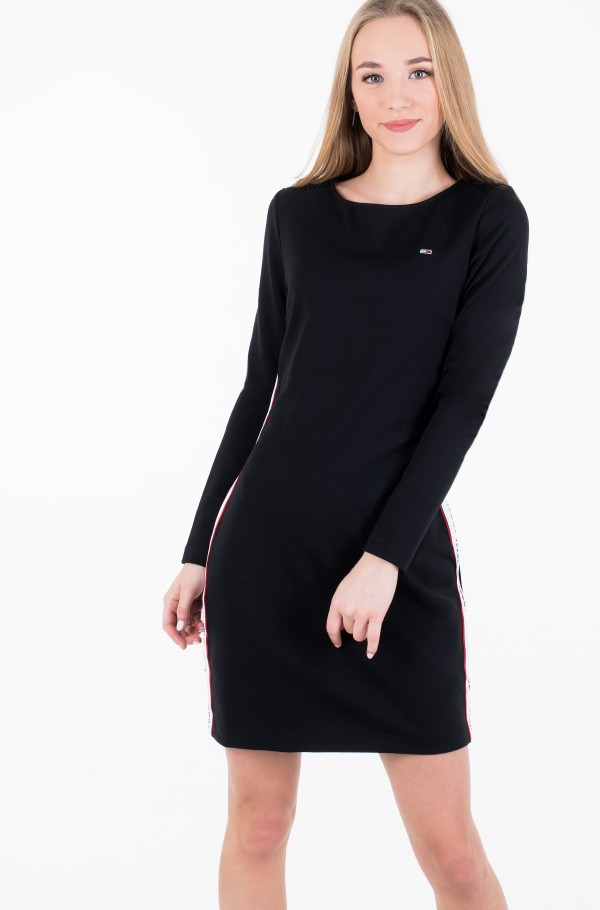 TJW TAPE DETAIL BODYCON DRESS-hover