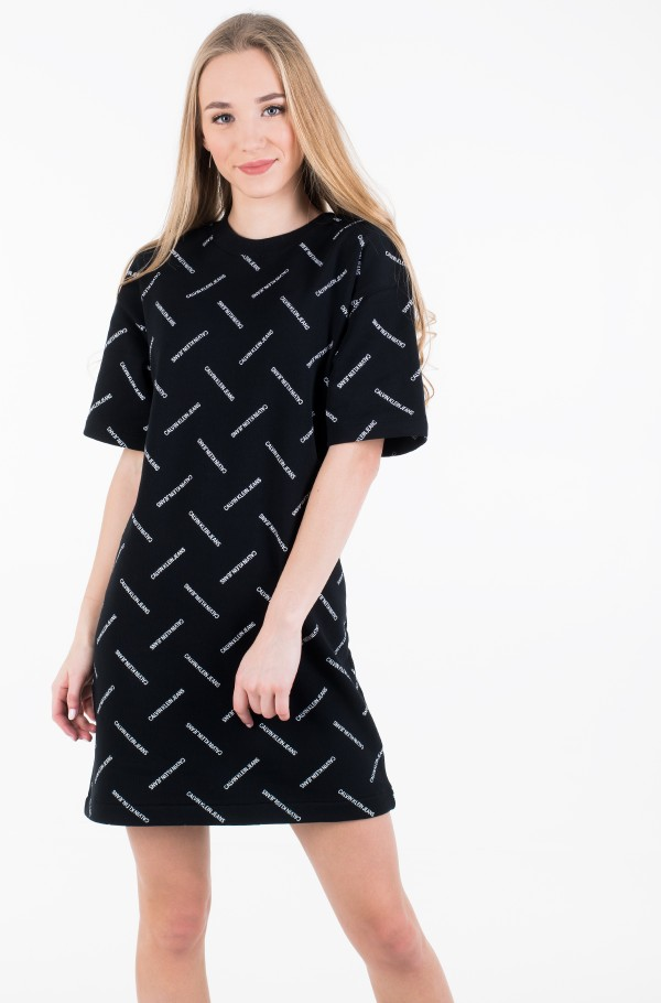 DIAGONAL LOGO T-SHIRT DRESS-hover
