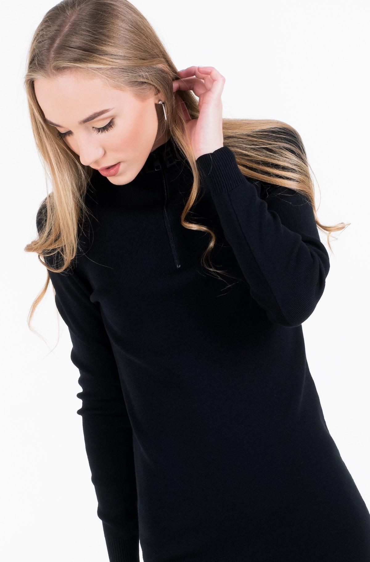 Dress NECK LOGO FITTED SWEATER DRESS-full-2