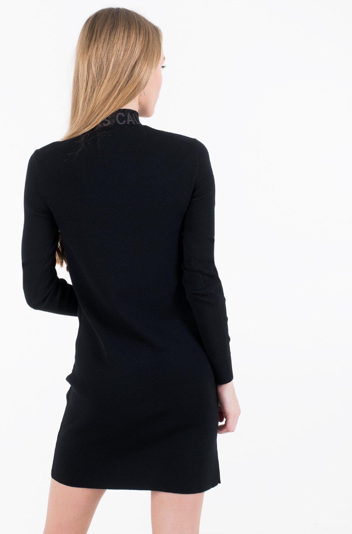 Dress NECK LOGO FITTED SWEATER DRESS-full-3