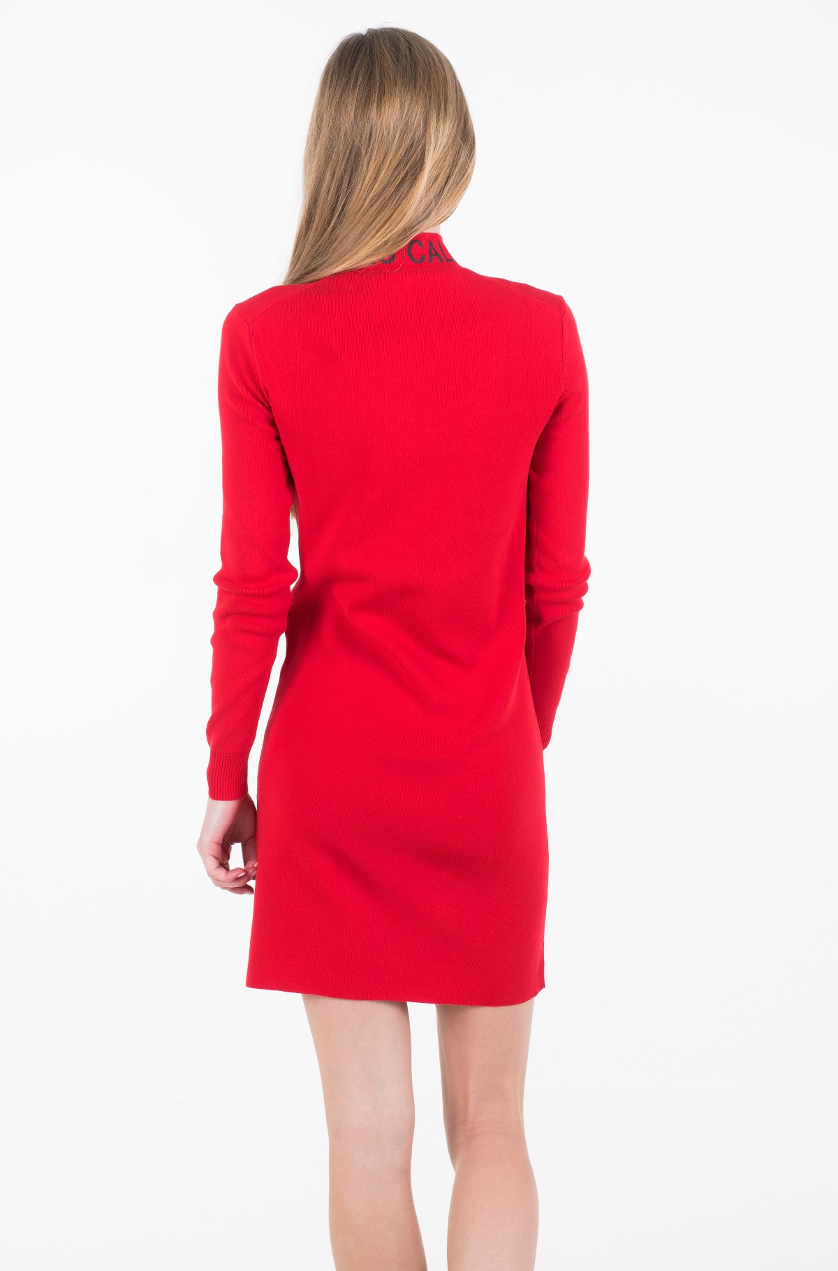 Dress NECK LOGO FITTED SWEATER DRESS-full-3