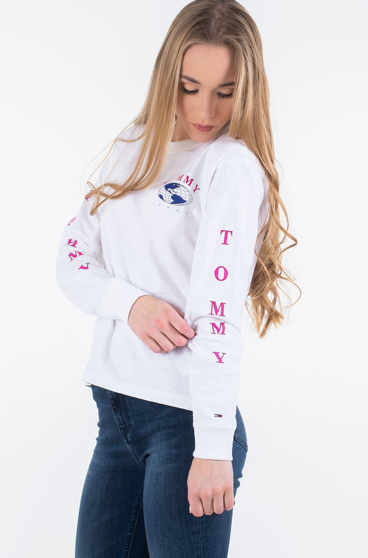 Long sleeved t-shirt TJW TOMMY GLOBE LONGSLEEVE-full-1