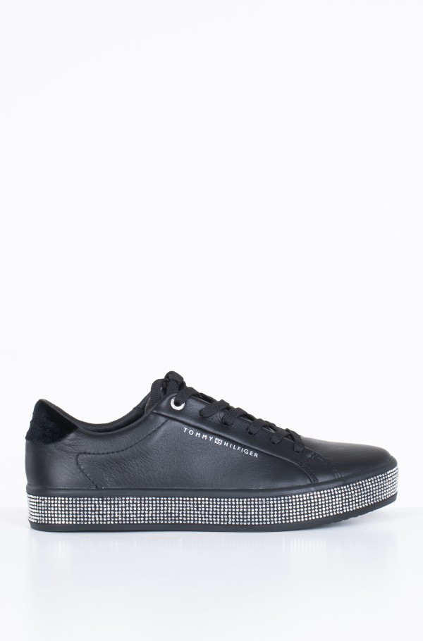 ELEVATED PATENT JEWELED SNEAKER