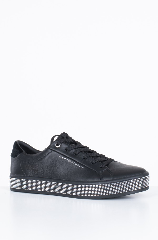 ELEVATED PATENT JEWELED SNEAKER-hover