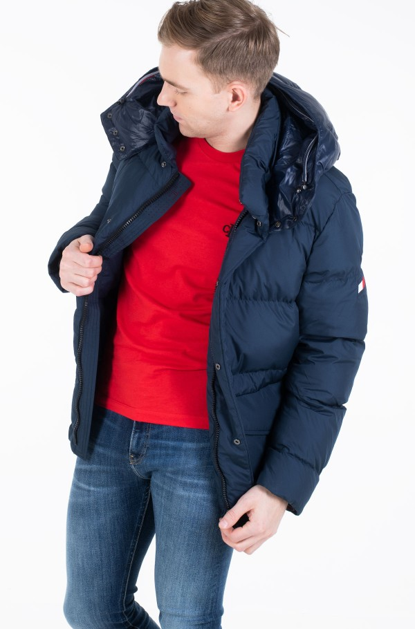 TOMMY HOODED BOMBER-hover
