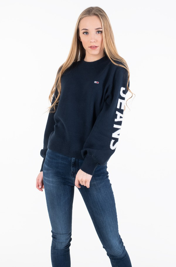 TJW LOGO SLEEVE DETAIL SWEATER