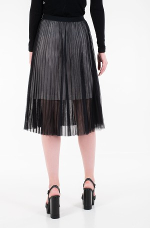 Seelik PLEATED MESH DOUBLE LAYER SKIRT-3
